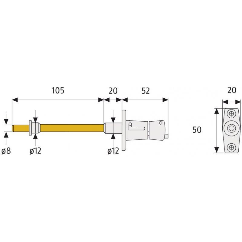 abus rs87 b braun rollladensicherung set paar rollladensicherung rs 87 21 99 abus sicherhei. Black Bedroom Furniture Sets. Home Design Ideas