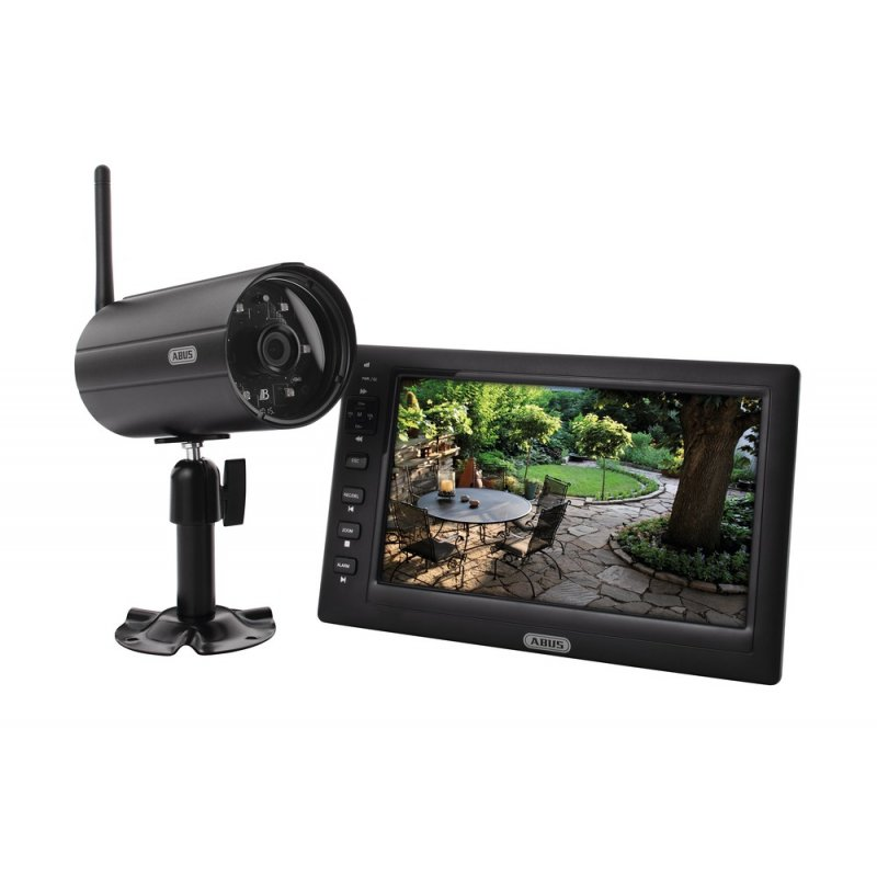 abus tvac14000a heim video berwachungsset 7 tft monitor mit kamera 290 55 abus s. Black Bedroom Furniture Sets. Home Design Ideas