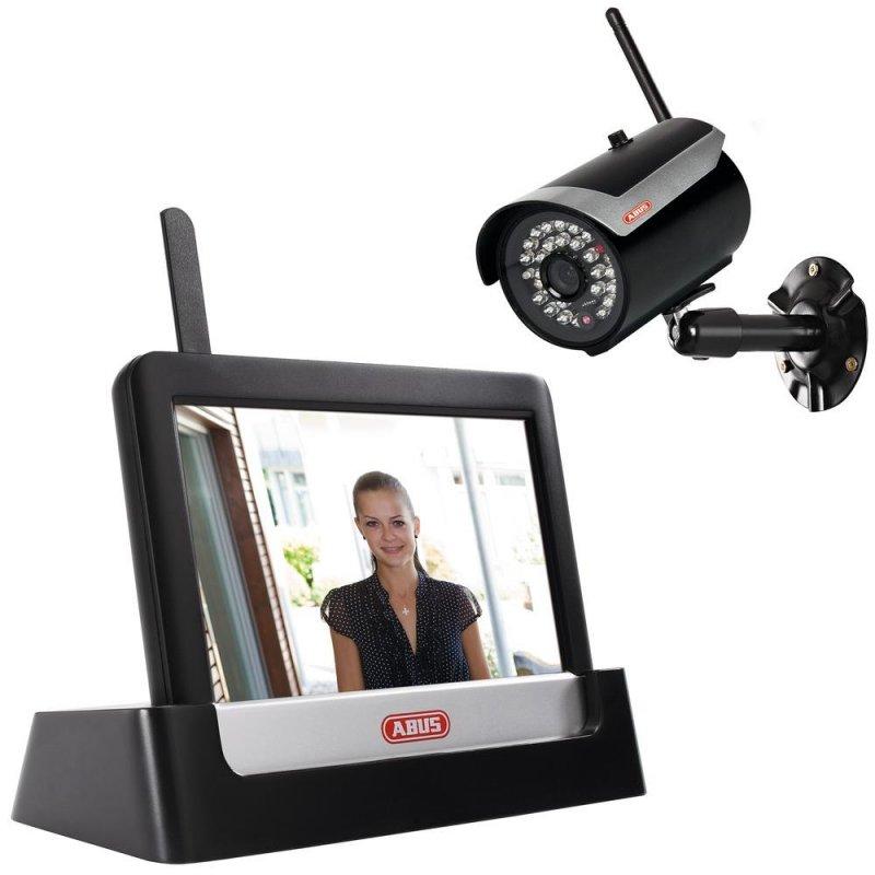 """ABUS TVAC16000A 7"""" Heim-Videoüberwachungsset Touch & App mit Funk-Außenkamera"""