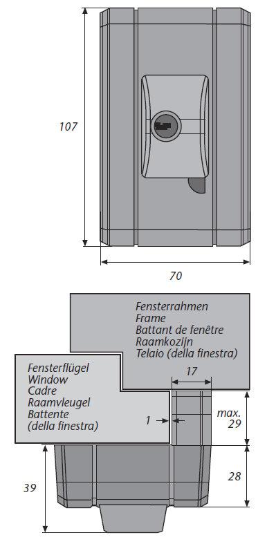 abus fts99 w wei vds automatisch verschlie endes fenster zusatzschloss 69 99. Black Bedroom Furniture Sets. Home Design Ideas