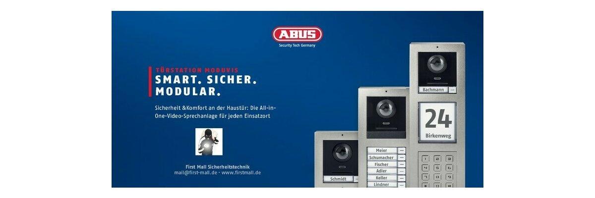 Jetzt verfügbar! ABUS ModuVis Türsprechanlage - ABUS ModuVis Türsprechanlage Smart Sicher Modular