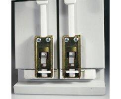 ABUS DSB550 W weiß Doppelschliessblech für FOS550 FOS55A Stangenschlösser