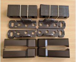ABUS DSB550 B braun Doppelschliessblech für FOS550 FOS55A Stangenschlösser