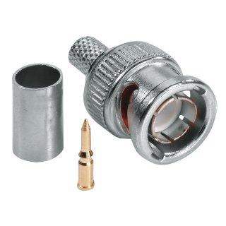 ABUS TVAC40600 BNC Crimpstecker hochwertiger Gold-Pin 75 Ohm