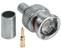 ABUS TVAC40600 BNC Crimpstecker hochwertiger Gold-Pin 75...