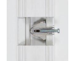 ABUS Befestigungsset IM100 für Fenstersicherungen Fenster Aluminium Kunststoff