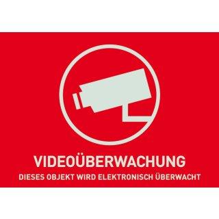 ABUS AU1320 Warn Aufkleber Video ohne ABUS Logo 148x105 mm Tür Fenster