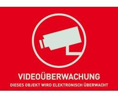 ABUS AU1320 Warn Aufkleber Video ohne ABUS Logo 148x105...