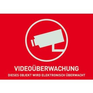ABUS AU1321 Warn-Aufkleber Video ohne ABUS Logo 74x52,5 mm Tür Fenster