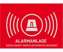 ABUS AU1323 Warn-Aufkleber Alarm ohne ABUS Logo 74 x 52,5...
