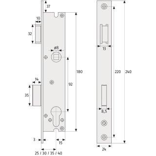 abus einsteckschl sser abus sicherheitstechnik von. Black Bedroom Furniture Sets. Home Design Ideas