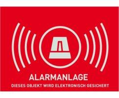 ABUS AU1322 Warn-Aufkleber Alarm ohne ABUS Logo 148 x 105...