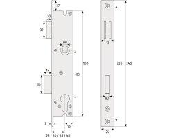 ABUS RR40 Rohrrahmenschloss Einsteckschloss Dornmaß 40 mm