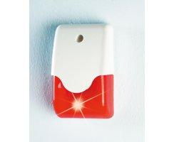ABUS SG1681 Kombisignalgeber 12 V LED Blinklicht Sirene rot innen außen