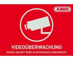 ABUS AU1420 Warn Aufkleber Video 148x105 mm Tür...