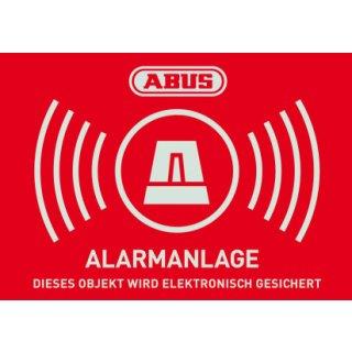 ABUS AU1422 Warn-Aufkleber Alarm 148x105 mm Tür Fenster Alarmanlage