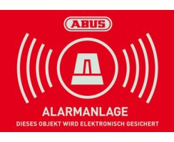 ABUS AU1422 Warn-Aufkleber Alarm 148x105 mm Tür...
