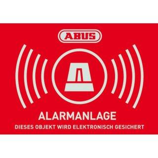 ABUS AU1423 Warn-Aufkleber Alarm 74x52,5 mm Tür Fenster Alarmanlage