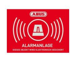 ABUS AU1423 Warn-Aufkleber Alarm 74x52,5 mm Tür...