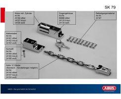 ABUS SK 79 Türkette Sicherheitskette abschließbar Farbe silber SK79
