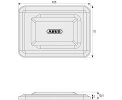 ABUS GS60 Set Gitterrostsicherung für gemauerte Kellerschächte GS 60