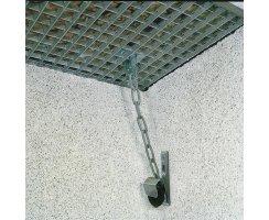 ABUS GS40 Set Gitterrostsicherung für Kunststoff-Lichtschächte / gemauerte Lichtschächte GS 40