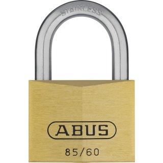 ABUS 85/60 Vorhangschloss aus massivem Messing verschiedenschliessend