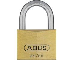 ABUS 85/60 Vorhangschloss aus massivem Messing...