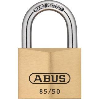 ABUS 85/50 Vorhangschloss aus massivem Messing verschiedenschliessend