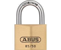 ABUS 85/50 Vorhangschloss aus massivem Messing...