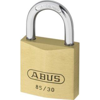 ABUS 85/30 Vorhangschloss aus massivem Messing verschiedenschliessend