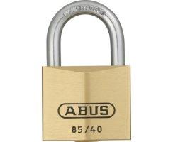 ABUS 85/40 Vorhangschloss aus massivem Messing...