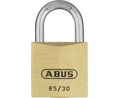 ABUS 85/30 Vorhangschloss aus massivem Messing gleichschließend