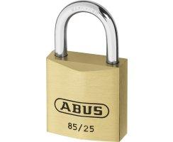 ABUS 85/25 Vorhangschloss aus massivem Messing gleichschließend