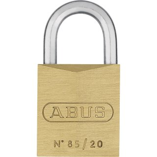 ABUS 85/20 Vorhangschloss aus massivem Messing gleichschließend
