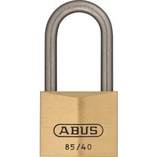 ABUS 85IB/40HB40 Vorhangschloss aus massivem Messing gleichschließend Edelstahlbügel