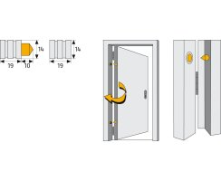 ABUS TAS82 Türaushebesicherung Bandseite Scharnierseitensicherung TAS 82