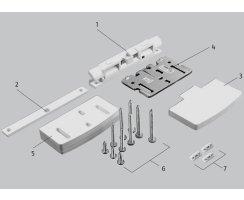 ABUS FAS97 W weiß Automatik-Scharnierseiten-Sicherung  FAS 97