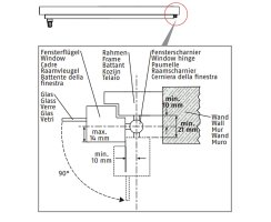 ABUS FAS101 B braun Stabile Scharnierseiten-Sicherung Fenstersicherung
