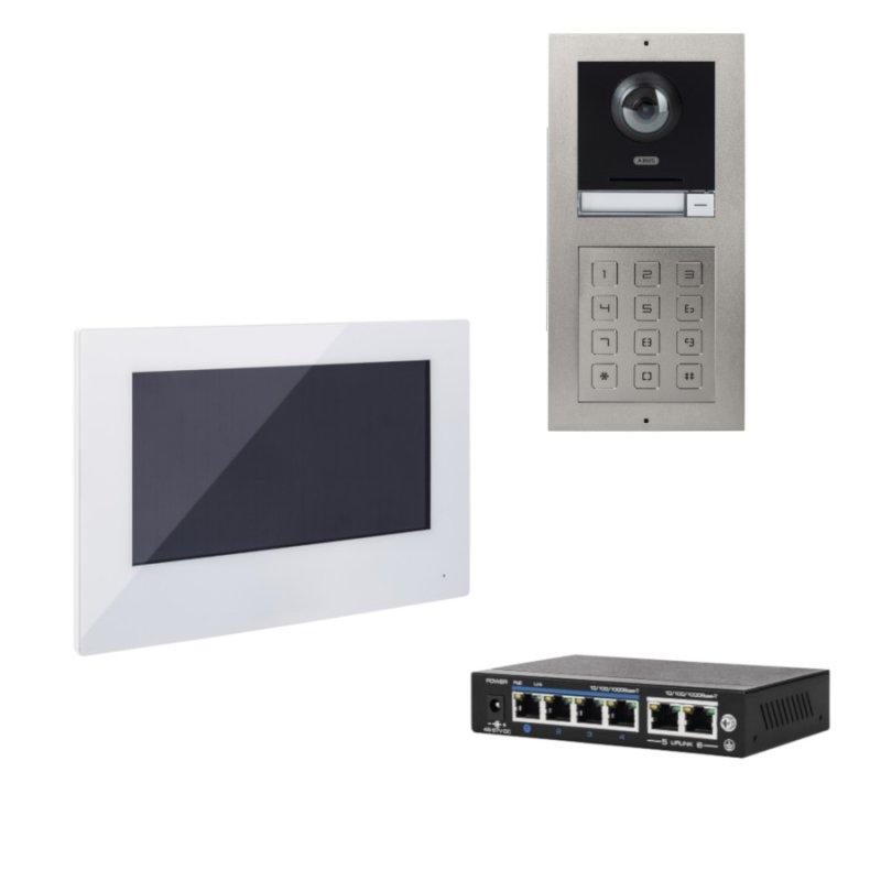 ABUS ModuVis Netzwerk PoE IP Set 2 Video App TĂĽrsprechanlage Einfamilienhaus