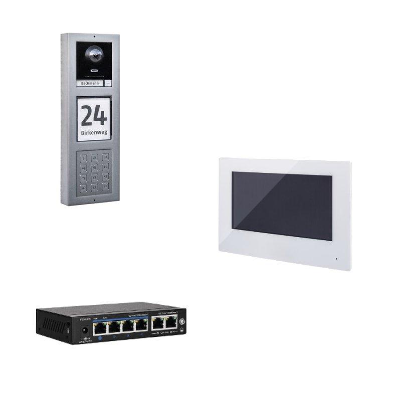 ABUS ModuVis Netzwerk PoE IP Set 3 Video App TĂĽrsprechanlage Einfamilienhaus