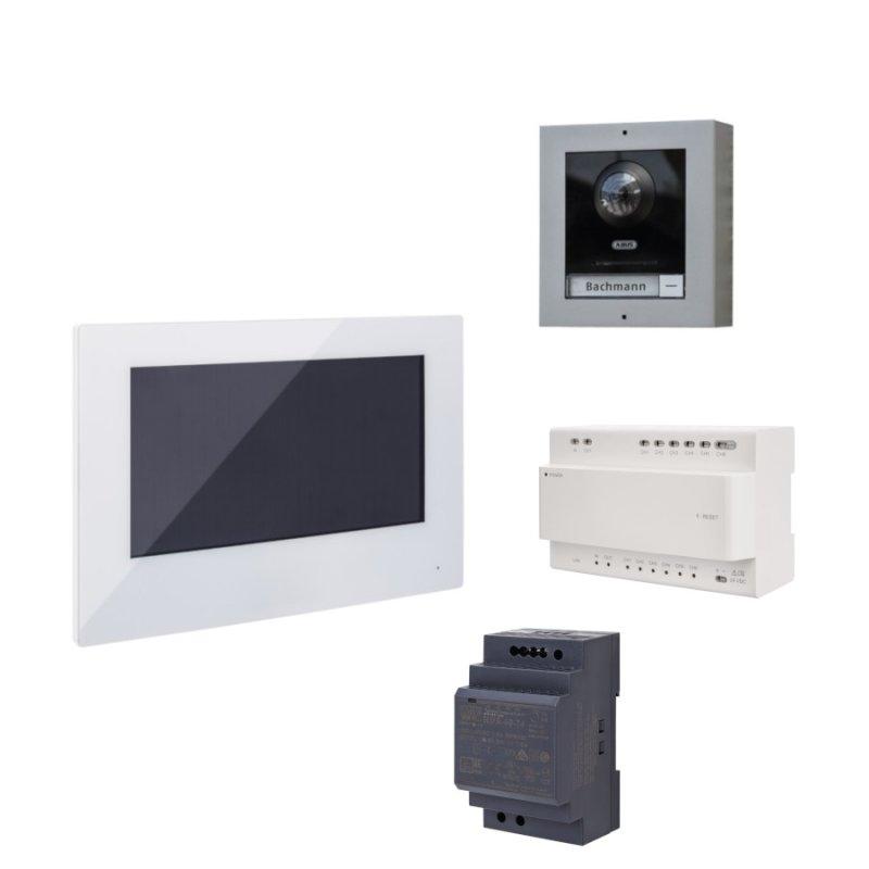 ABUS ModuVis 2-Draht Set mit WiFi Monitor TĂĽrsprechanlage Einfamilienhaus