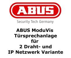 ABUS TVHS20110S Rahmen 2 Module Edelstahl Unterputz...