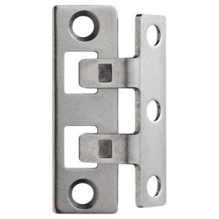 ABUS TAS102 Scharnierseitensicherung für Türen Edelstahl TAS 102