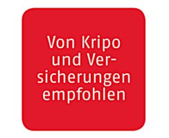 ABUS Feuerschutztür Schutzbeschlag KFG FS eckig schwarz Beidseitig Drücker