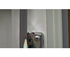ABUS FU8427W weiß Stangenset 2 für FOS 550 E weiß 75/118 cm