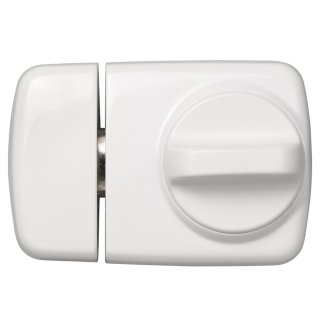 ABUS 7510 W weiß Tür-Zusatzschloss für Eingangstüren mit schmalen Rahmenprofilen Dornmaß 45 mm