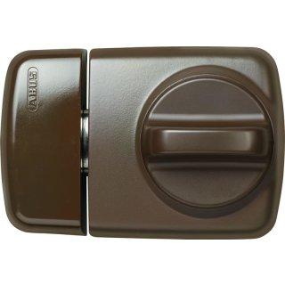 ABUS 7510 B braun Tür-Zusatzschloss für Eingangstüren mit schmalen Rahmenprofilen Dornmaß 45 mm