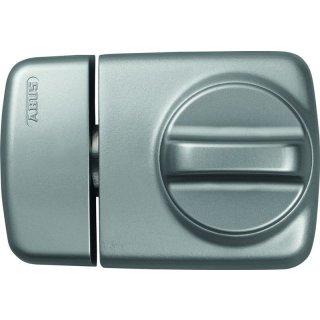 ABUS 7510 S silbern Tür-Zusatzschloss für Eingangstüren mit schmalen Rahmenprofilen Dornmaß 45 mm