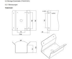 ABUS TVAC31231 Eckenhalter + Langer Wandhalter für PTZ IP Kamera Eckhalter